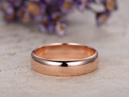DUPUY 14k rose gold Men's Wedding Band