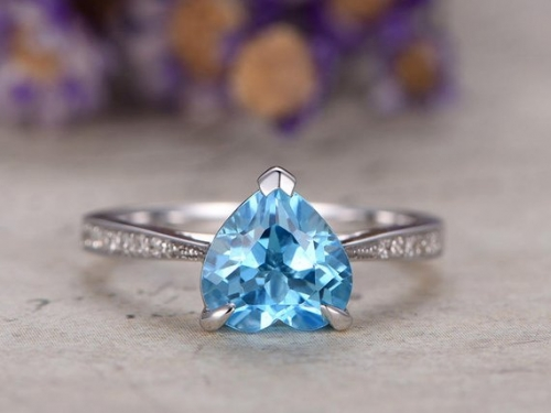 DUPUY Heart Shaped Topaz engagement ring