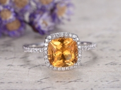 DUPUY natura citrine engagement ring,diamond promise ring