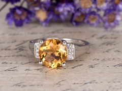 DUPUY Natural citrine engagement ring