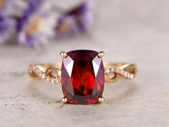 DUPUY 2.75 Carat Cushion Garnet Engagement Ring