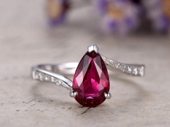 DUPUY 1.5ct Pear Tourmaline Engagement Ring