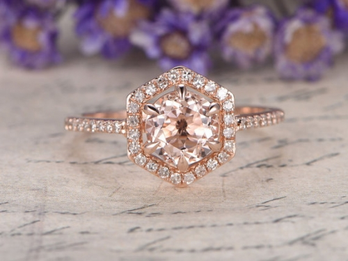 DUPUY 7mm Morganite engagement ring