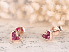DUPUY VS Natural Ruby Engagement Earrings
