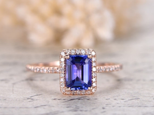 DUPUY 5X7mm VS Natural Tanzanite Engagement Ring