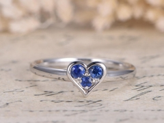 DUPUY VS Natural Blue Sapphire Engagement Ring