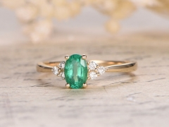 DUPUY  natural emerald  diamond ring  yellow gold