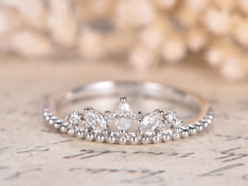 DUPUY Marquise Shaped Diamond Wedding Ring
