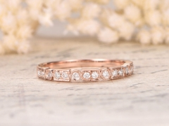 DUPUY Valentine Art Deco Diamond Wedding Ring