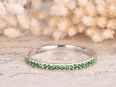DUPUY Half Eternity Tsavorite Wedding Band