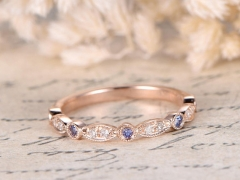 DUPUY Eternity Diamond anzanites Wedding Ring