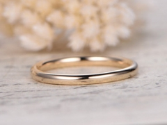 DUPUY Hammered Domed  Classic Wedding Band